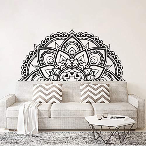 Etiqueta engomada de la pared de la flor de la mandala, decoración del cabecero, etiqueta engomada del arte del estilo marroquí del papel pintado del mandala A3 118x57cm