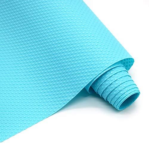 Hersvin 60cmx300cm Plastico Protector para Cocina Cajones, Alfombras Non Adhesivo para Nevera Mueble Fregadero Estante Organizador Cubiertos Rollo Goma EVA Cubre Encimera(Azul Punto)