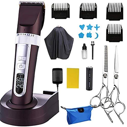 Rasierte Haarschneidemaschine elektrische Haarschneidemaschine erwachsene elektrische Haarschneidemaschine elektrische Haarschneidemaschine Haarschneidemaschine, Mokka braun