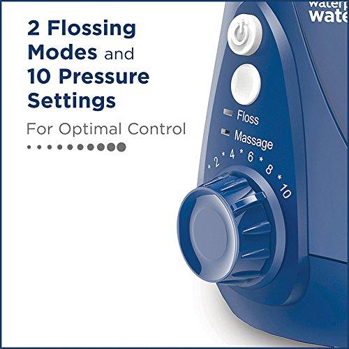 Waterpik Water Flosser Electric Dental Countertop Professional Oral Irrigator For Teeth, Aquarius, WP-663 Blue
