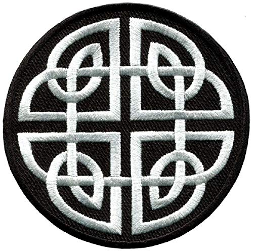 Celtic Knot Irish Tattoo Embroidered Patch [Iron on Sew on -3.0 inch - C2]