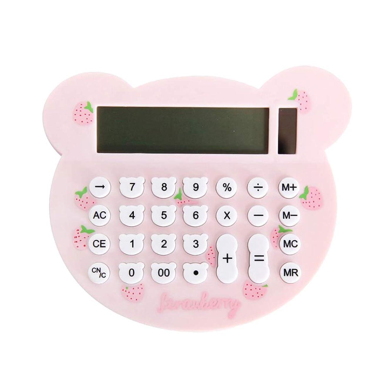 減少豪華なアトラスToyvian 電卓 電子ミニ電卓 かわいい猫の形 ソーラーバッテリー LCDディスプレイ 金融 オフィス 学生用 (ランダムカラー)
