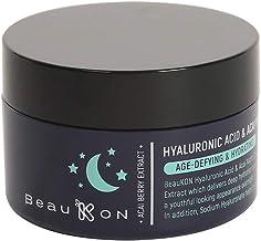 BeauKON Hyaluronic Acid & Acai Night Cream, Hydrating and Anti Aging, Green Tea Extract (1.7 Oz)