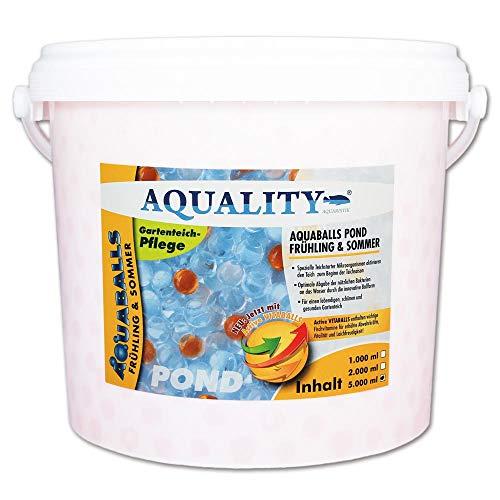 AQUALITY AQUABALLS Pond Frühling & Sommer (GRATIS Lieferung in DE - Effektive Mikroorganismen, Innovative Ballform, Aktivierung des Gartenteiches. Spezieller Teichstarter), Inhalt:5 Liter