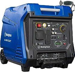 small Westinghouse iGen4500 Ultra Quiet Portable Inverter Generator, Nominal Power 3700, Peak Power 4500 W, Gas …