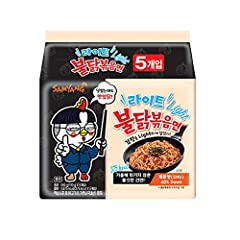 Light Calorie, Less Spicy Than The Original Product. 1 Bundle = 110g x 5 Pack Same as the one from the Korean Market Food Type : Instant Fried Noodle Made in Korea