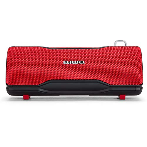 Aiwa BST-500RD Bluetooth-Lautsprecher, Stereo, TWS, tragbar, Rot, geeignet für Android oder iPhone