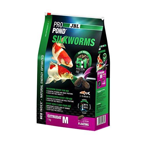 JBL PRO Pond Silkworms M 1Kg Mangime per Pesci Koi per Laghetti, Multicolore, Unica