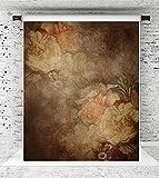 KateHome PHOTOSTUDIOS 1.5x2.2m Retro Hintergründe Fotografie Flower Lady Portrait Fotografie Hintergrund