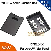Gimax 20pcs/Lot Small Power Solar Junction Box, IP65 Waterproof, Suitable for 20-30W Solar Panel, Wholesale 20W-30W Terminal Box, TUV