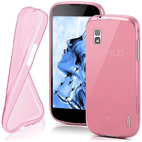 MoEx® Funda [Transparente] Compatible con LG Google Nexus 4   Ultrafina y Antideslizante - Rose