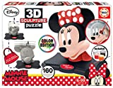 Educa - 3D Sculpture Puzzle Minnie Mouse, Montar y pintar, Incluye pinturas y pincel, +6 años (17930)