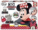 Educa-3D Sculpture Puzzle Minnie Mouse, Montar y Pintar, Incluye Pinturas y Pincel, 6 años, Multicolor (17930)