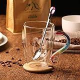 XJYJF Taza de café con mango de diamante sColorful Doce Constelaciones, taza de té, capuchino, mejor regalo, acuario, 260 ml, cerámica (color: acuario, tamaño: 350 ml)
