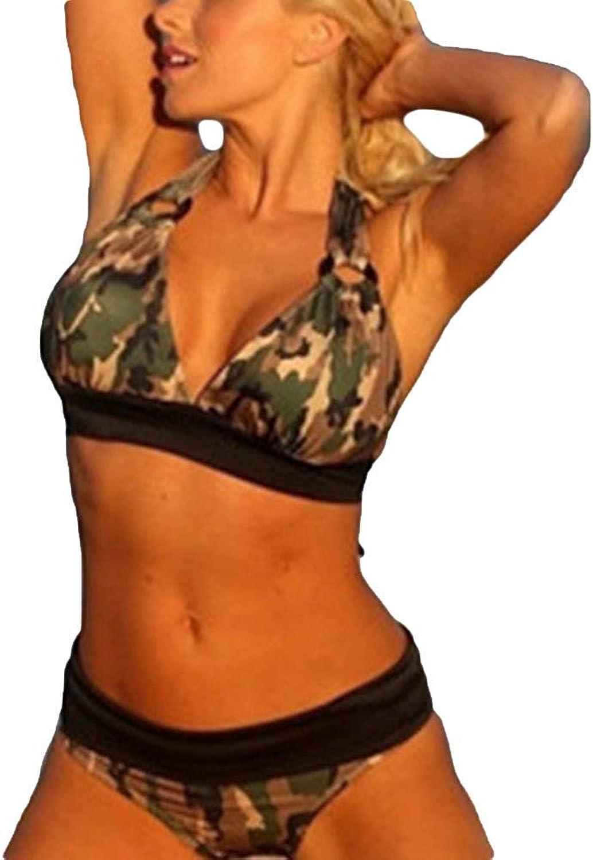 YHUJH damen Triangle Bikini Set zweiteilig zweiteilig zweiteilig gepolsterte Badeanzüge Badeanzüge (Farbe, Größe   XXL) B07PRSGSQH  Qualität d87d73