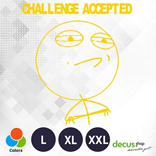 Decus Pegatina para Memoria Meme Challenge Accepted L 2163