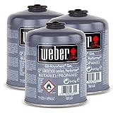 3x Weber Gas Kartusche 26100 für Q 100 Serie und