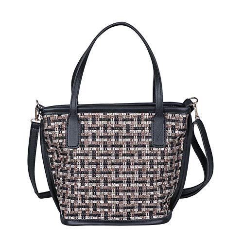 Fashion Woven Women Crossbody Handbag Retro Portable Lady Knitted Shoulder Messenger Simple Travel Totes Bags