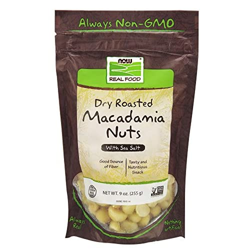 NOW Foods, Macadamia Nuts, Dry Roasted with Sea Salt, Source of Fiber, Gluten-Free and Certified Non-GMO, 9-Ounce 3