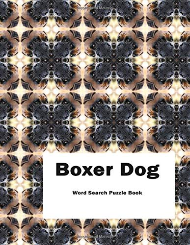 Boxer Dog Word Search Puzzle Book