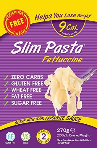 konjac Fettuccine Pasta | 5 x 270 gramos | Eat Water | 9 kcal x 100 gramos |
