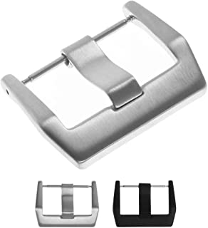 StrapsCo Stainless Steel Tang Watch Band Strap Buckle for Bell & Ross - 24mm - Brushed Silver