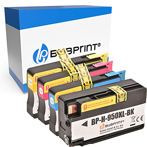 Bubprint 4 Cartucce d'inchiostro compatibili per HP 950XL 951XL per Officejet Pro 251DW 276DW 8100 ePrinter 8600 Plus 8610 8615 8616 8620 8625 e-All-in-One