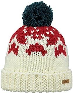 885d650fc5b75 BARTS Beanie Bonnet avec Pompon Bonnet de Ski Blanc baigh Maille épaisse  Polaire 3691033 - baigh