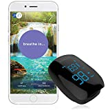 iChoice Relaxation Coach Smart Pulse Oximeter – Portable Bluetooth Sensor for Meditation & Relaxation - Easily Monitor Stress, Heart Rate and SPO2 (Oxygen Saturation) Trends
