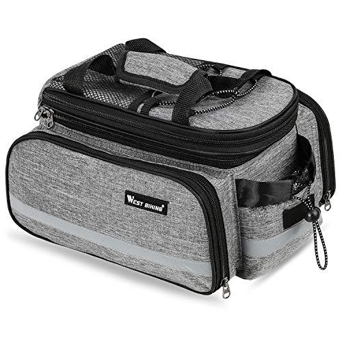 Alforja impermeable para bicicleta, 10 – 25 L, multifunción, gran capacidad, para maletero de bicicleta, mochila compatible con nailon resistente y duradero, para equipaje de ciclismo