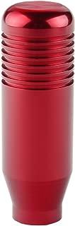 Dewhel JDM MT 5 6 Speed Aluminum Manual Short Throw Shift Gear Knob M10 x 1.5 Screw On For Honda Acura (Red)