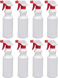 Fasmov Plastic Leak Proof Empty Spray Bottle Cleaner 16 Oz. Spray Bottles, Pack of 8