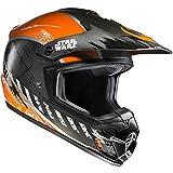 CX2XWL - HJC CS-MX II Rebel X-Wing Star Wars Motocross Helmet L Black Orange (MC7)