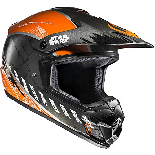 CX2XWL - HJC CS-MX II Rebel X-Wing Star Wars Motocross Helmet L Black Orange (MC7)