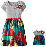 Dollie & Me Big Girls' Patchwork Plaid Fashion Dress