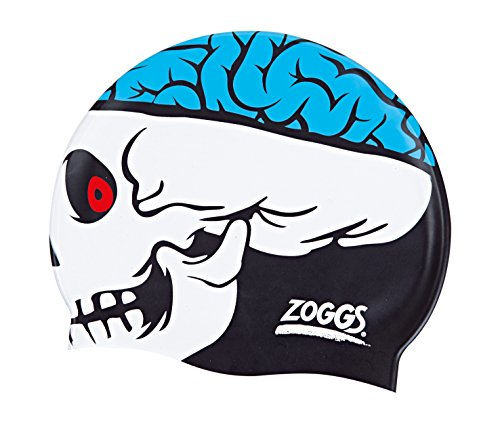 Zoggs Kinder Junior Character Silicone Cap Badekappe, Skull, One Size