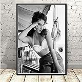 NOVELOVE Wandkunst Bild Elizabeth Taylor Filmschauspielerin