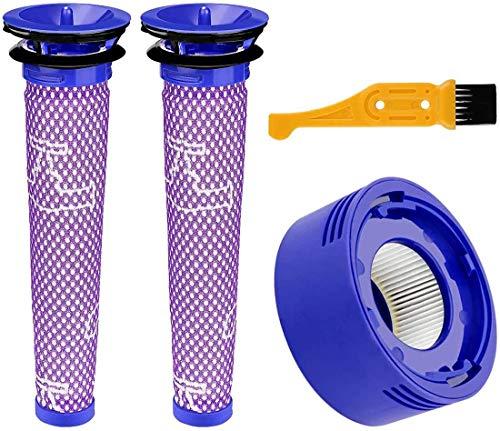 Kit de filtres et pré-filtres HEPA de rechange pour aspirateurs sans fil Dyson DC58 DC59 V6 V7 V8 V10 Animal (avec brosse de nettoyage) Entretien du sol (couleur : Style C)