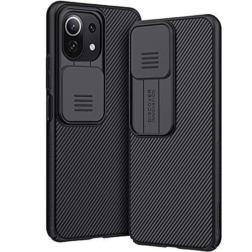 AROYI Funda Compatible con Xiaomi Mi 11 Lite, Tapa Deslizante para la cámara Funda para Xiaomi Mi 11 Lite 5G / 4G (2021) 6,55 Pulgadas - Negro