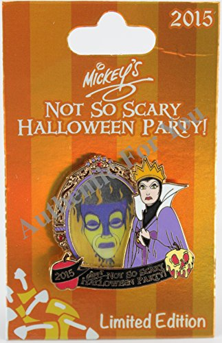 Disney Parks 2015 MNSSHP Halloween Party Evil Queen Magic Mirror Trading Pin Limited Edition LE 5550