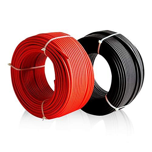 Desconocido Enerflex Solarkabel 6 mm Schwarz 10 Meter XLPE-Kabel 1500 V