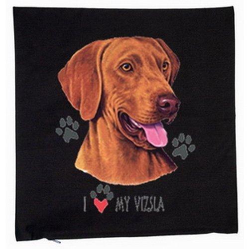 Magyar viszla chiens housse de coussin 40 x 40 cm (noir)
