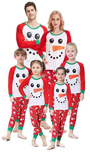 Matching Family Christmas Pajamas Boys Girls Snowman Jammies Children Gift Set Size 12