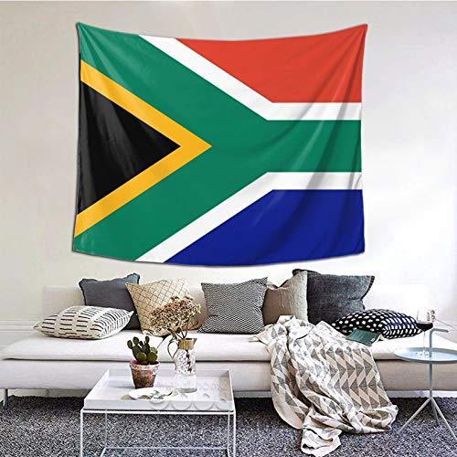 Südafrika-Flagge, Wandbehang als Wandkunst & Heimdekoration für Schlafzimmer, Wohnzimmer, Wohnheim-Dekor (152,4 x 129,5 cm)
