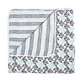 aden + anais White Label Dream Blanket   Boutique Muslin Baby Blankets for Girls & Boys   Ideal Newborn Nursery & Crib Bedding   Plush Toddler & Infant Blankets   Shower & Registry Gift Items,Seaside