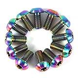 VGEBY1 Bulloni del rotore del Freno a Disco di 12pcs, rotori della Testa di Torx della Lega di Titanio Viti del bullone del Freno della Bici(M5x10-colorato)