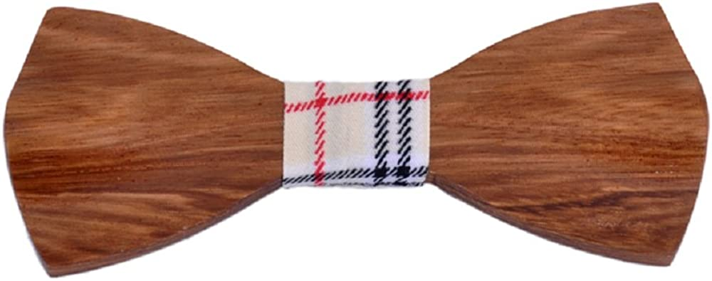 Hello Tie Men's Wood Bow Tie Handmade Creative Wooden Bowtie With Gift Box