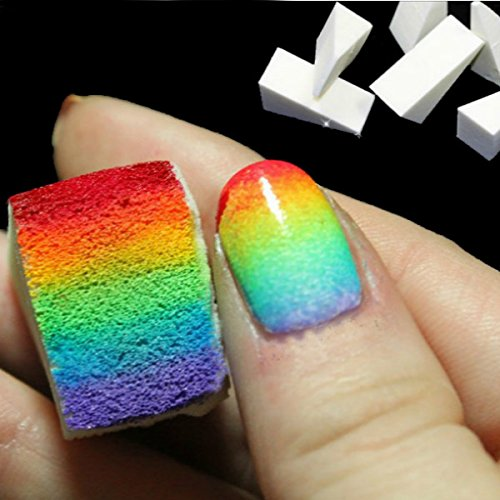 Bluelover 8Pcs DIY Eponge Creative Nail Art Outils