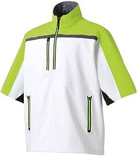 Mens Footjoy Dryjoys Tour XP Short Sleeve Rainshirt White/Lime/Blk Small