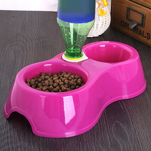 Lecktra - Feeding bowl - Bowl for water - 2 in 1 automatic food and water bowl - Drinking bowl for dogs - Feeding bowl dog - Automatic feeder - Double bowl